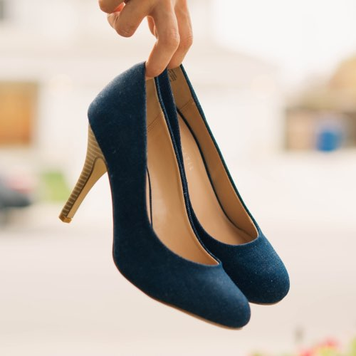 Search for navy heels
