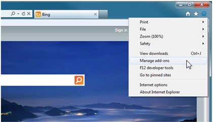 enable Bing Bar for IE9