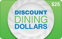 $25 Discount Dining Dollars eCard