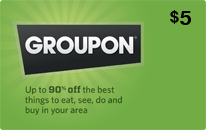 $5 Groupon eGift Card