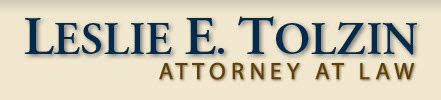 Leslie E. Tolzin Attorney At Law: Leslie E Tolzin