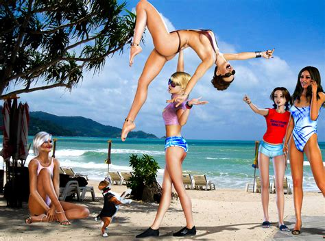 women lift and carry 3d art picture 5