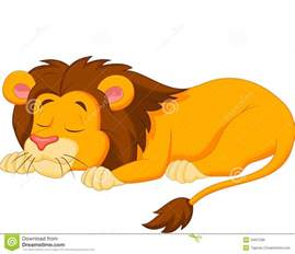 graphic lion sleeping picture 1