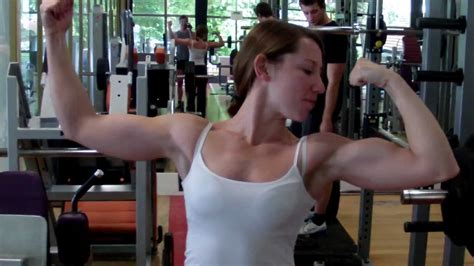 female flexing muscles picture 5
