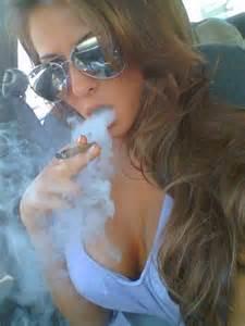 woman blowing smoke picture 3