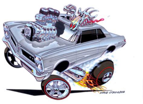 high octane muscle car drawings picture 1