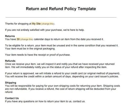 home business return policy picture 1