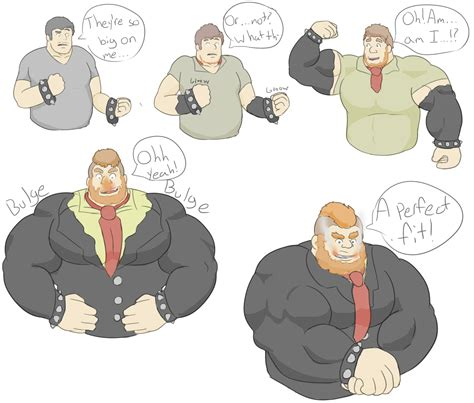 cartoon male muscle transformation picture 9