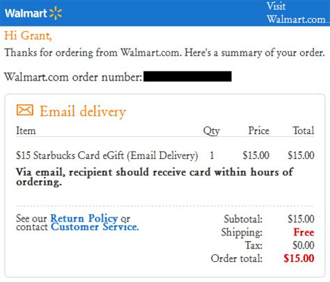 walmart online purchase confirmation picture 3