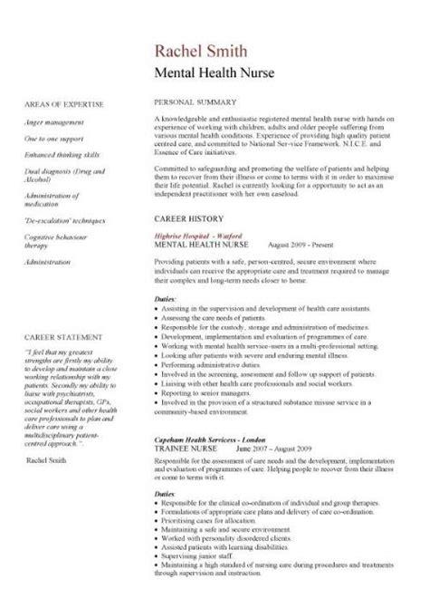 mental health job resume picture 10