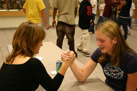 women arm wrestling flexing muscles picture 7