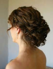 curly frizzy hair updo for wedding picture 5