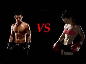 wrestling women vs men picture 2