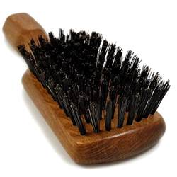 Brushing hair with boar brush picture 5