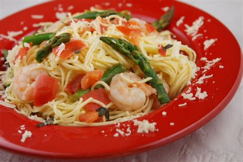 wine shrimp angel hair pasta picture 2