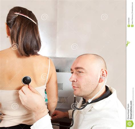 female doctor examining male patients picture 6