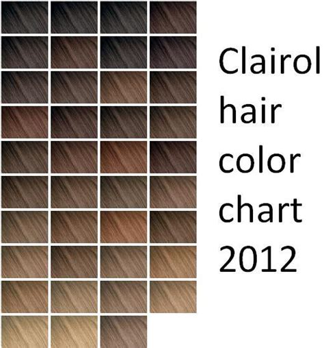 clarol hair chart picture 2