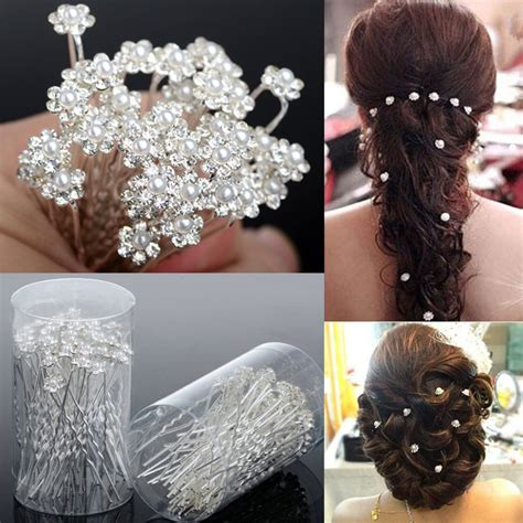 crystal flower hair clips picture 15