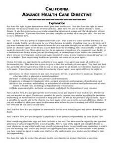 advance health care directives california picture 1