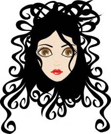 curly hair clipart picture 19