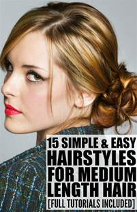 pictures of hairstyles for a medium length hair picture 1