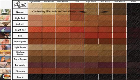 color chart for red hair dye picture 2