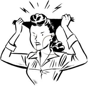 clip art of woman pull out her hair picture 10