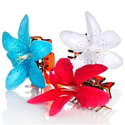 flower hair clips picture 9