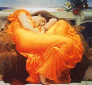 romantic paintings of sleeping women picture 1