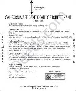 affidavit of death of joint tenant picture 1