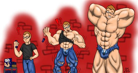 cartoon male muscle transformation picture 1