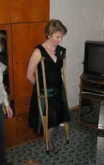 women amputees on crutches picture 7