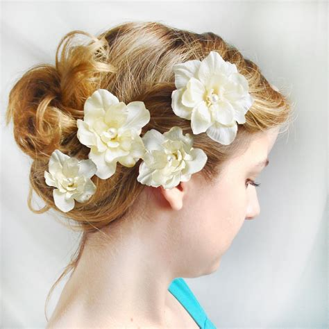 flower hair clips picture 2