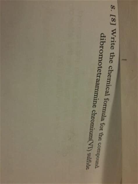 chromium vi sulfide formula picture 1