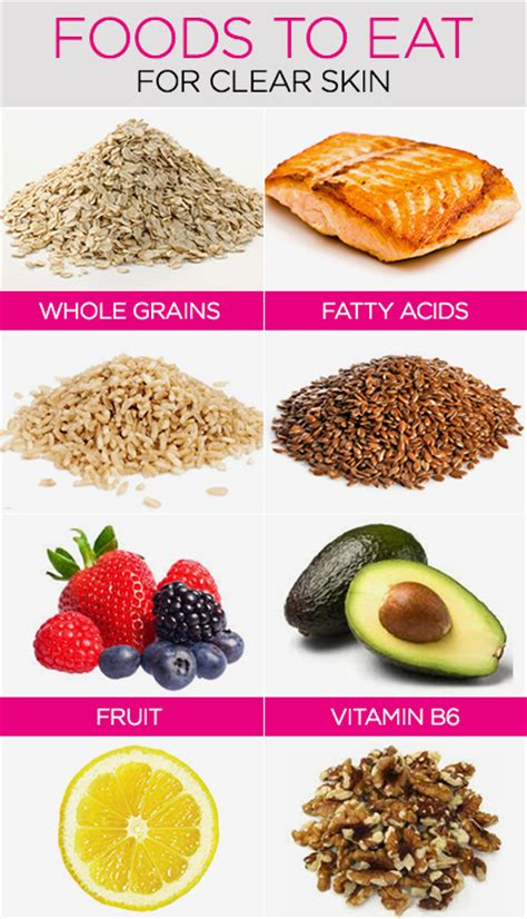 foods for a clear skin picture 1
