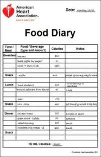 diabetic food diary sample picture 3