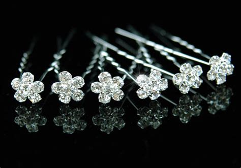 crystal flower hair clips picture 13