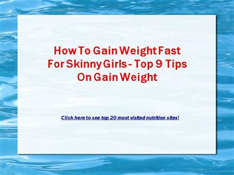 tips how to quickly gain weight picture 7