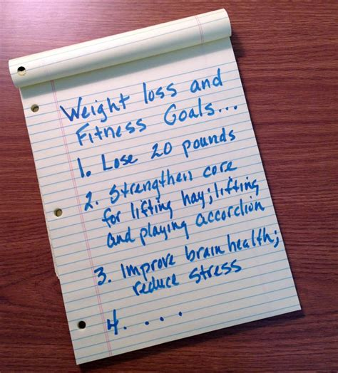 setting weight loss goals picture 6