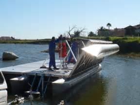 pontoon boat fold put sleep picture 1