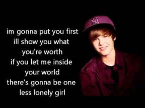 justin beber-one less lonely girl picture 5