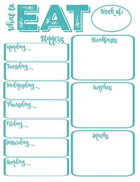 free printable diet plans picture 2