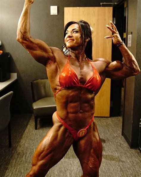 female bodybuilder ing two guys picture 3