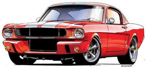drawing old muscle cars picture 1
