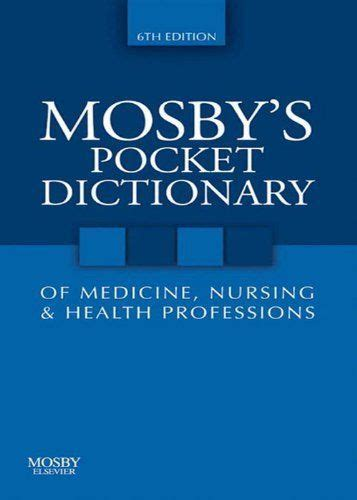 mosby's pocket dictionary of medicine nursing and allied picture 11