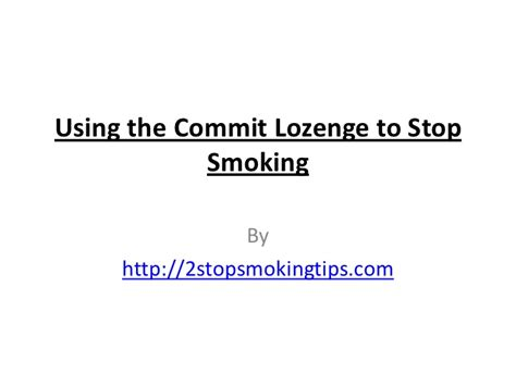 commit lozenges to quit smoking picture 10