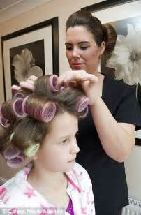 moms who set their sons hair in rollers picture 1