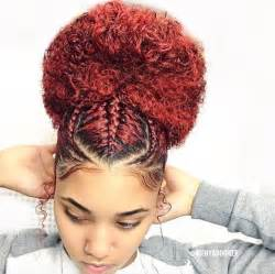 braids and curly buns hair style picture 1
