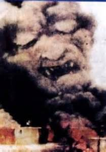 faces on smoke on wtc fire picture 7