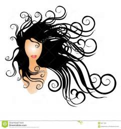 curly hair clipart picture 2